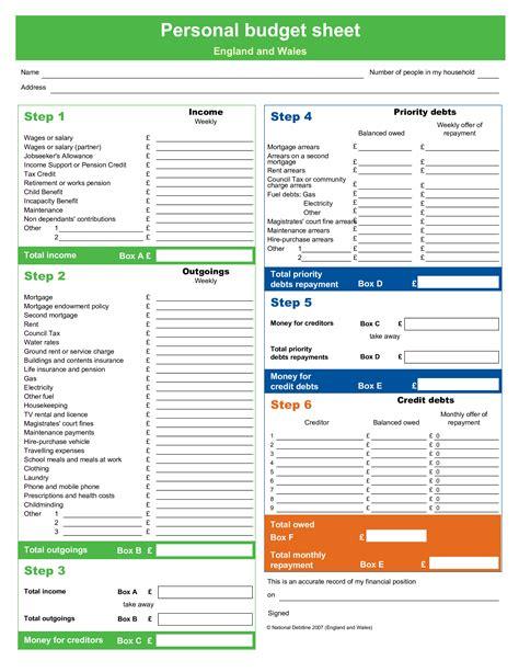 Personal Budgets Templates CV Templates Download Free CV Templates [optimizareseo.online]