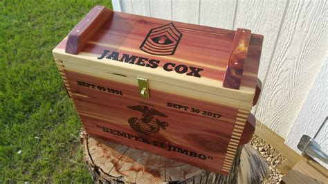 Personalized Wooden Ammo Box And 100 Round Box Of 9mm Ammo