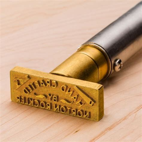 Personalized branding iron for wood Image