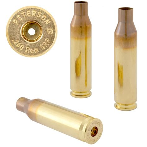 Peterson Cartridge 260 Remington Brass 260 Remington Large Primer Brass 50box