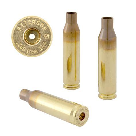 Peterson Cartridge 260 Remington Brass 260 Remington Small Primer Brass 50box