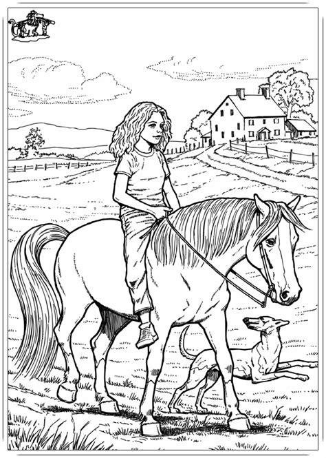 Pferde Ausmalbilder Mit Reiter