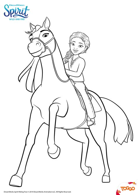 Pferde Ausmalbilder Spirit