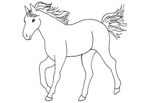 Pferde Malvorlagen Zum Ausdrucken Einfach