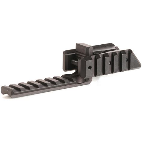 Picatinny Rail Rifle In Front Of Scope