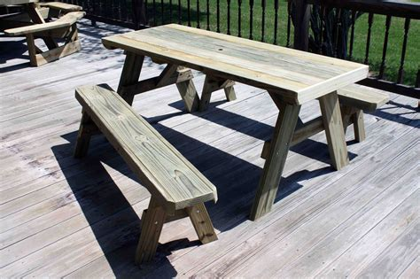 picnic table plans detached benches Image