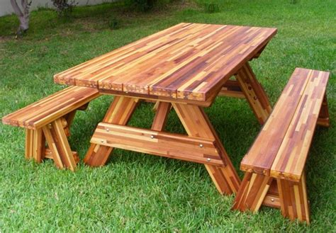 picnic table plans with separate benches.aspx Image
