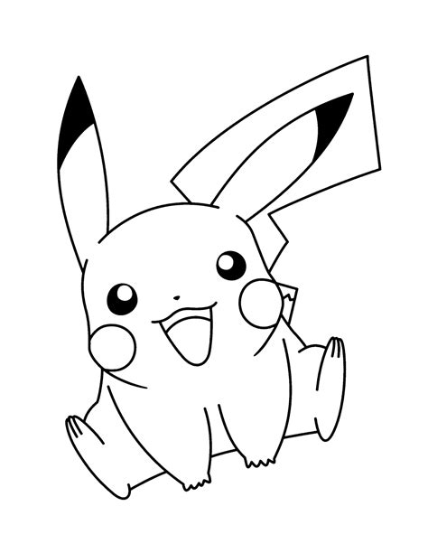 Pikachu Malvorlage