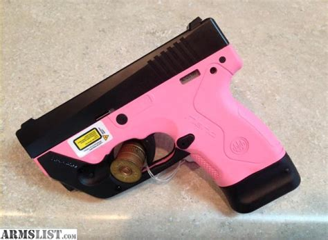 Pink Handgun With Laser