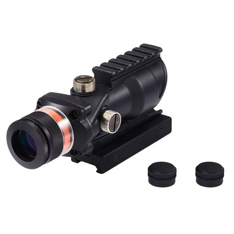 Rifle-Scopes Pinty 4x32 Tactical Rifle Scope With Top Fiber Optic Sight.
