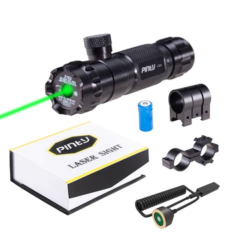 Rifle-Scopes Pinty Tactical Hunting Rifle Green Laser Sight Dot Scope.