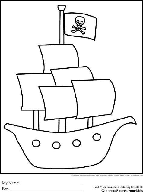 Piratenboot Malvorlage