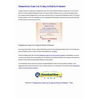 Pitchperfector trains you to sing on pitch in 10 minutes! that works