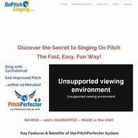 Pitchperfector trains you to sing on pitch in 10 minutes! tips