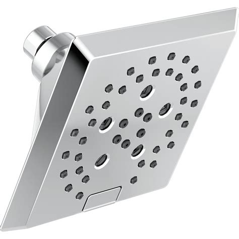 Pivotal  5-Setting Angular Modern Rain Shower Head with H2okinetic Technology
