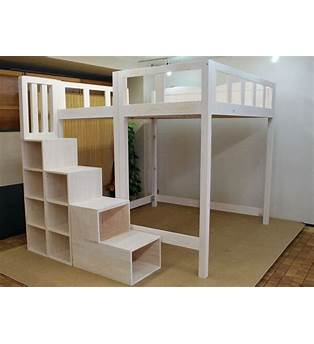 Plans For Full Size Loft Bed With Stairs