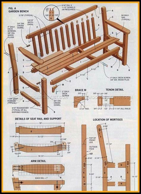 Plans for garden bench Image