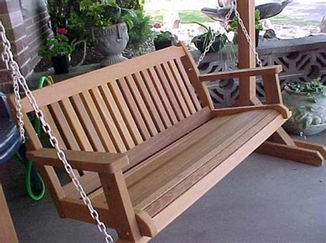 Plans for porch swing Image