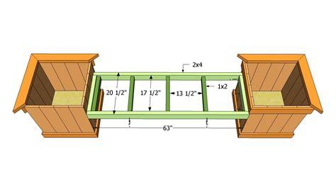 Planter box bench plans Image