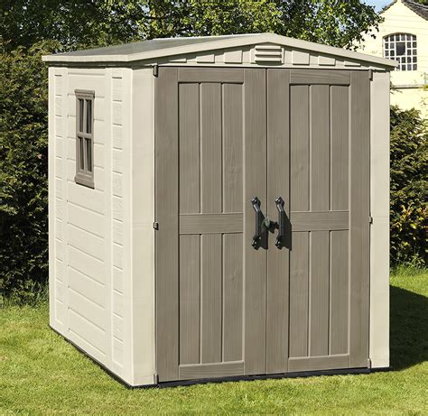 Plastic garden store shed Image