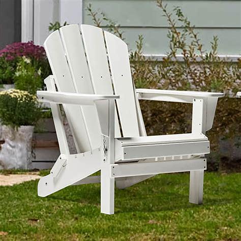 Plastic white adirondack chairs Image