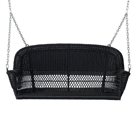 Plastic wicker porch swing Image