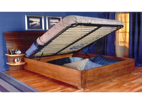 Platform bed that lifts for storage Image