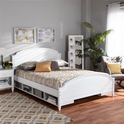 Platform full bed with storage Image