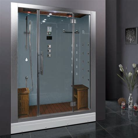 "Platinum 59"" x 87.4"" Rectangle Hinged Steam Shower with Base Included"