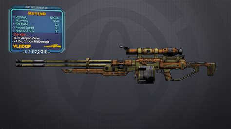 Player Scaled White Death Sniper Rifle Borderlands 2