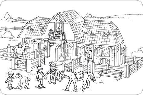 Playmobil Ausmalbilder Bauernhof