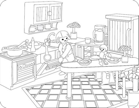 Playmobil Ausmalbilder Küche