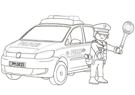 Playmobil Malvorlage Polizei