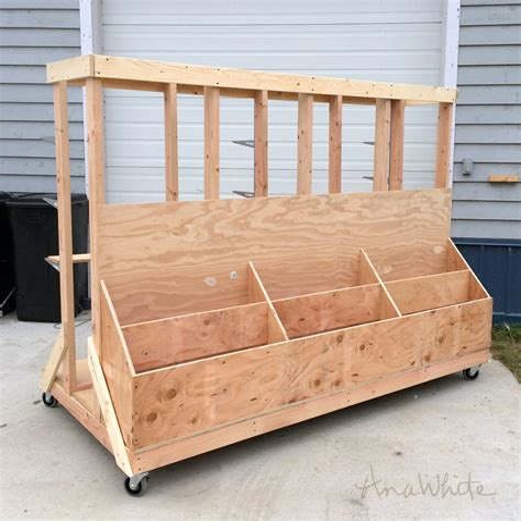 Plywood storage cart plans Image