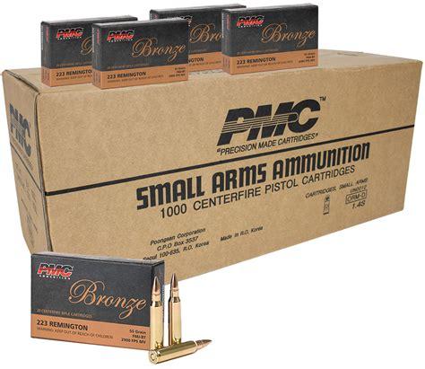 Pmc 223 Remington Ammunition 1000 Rounds Fmjbt 55