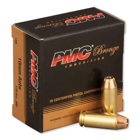 PMC Bronze 10mm Auto Ammunition 25 Rounds JHP 170 Grains