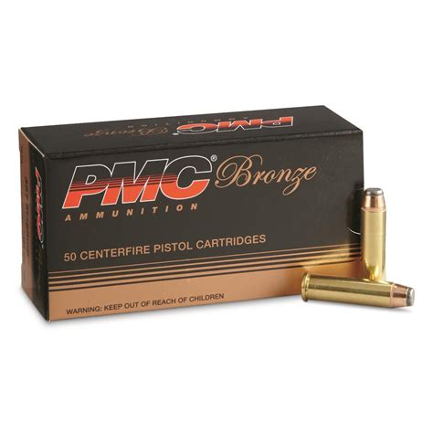 Pmc Bronze 357 Magnum Jsp 158 Grain 50 Rounds 51652