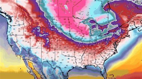 Polar Vortex Weather Map