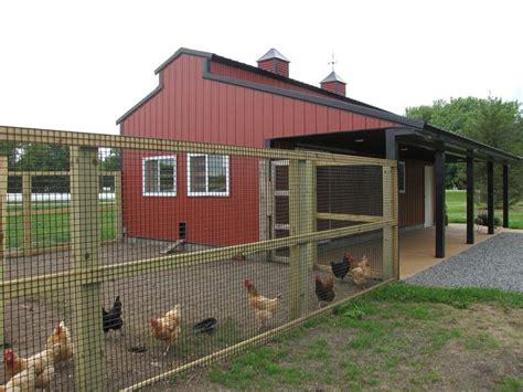 Pole Barn Chicken Coop Plans