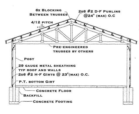 Pole barn construction plans free Image
