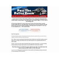 Police exam guide how to pass the police test review