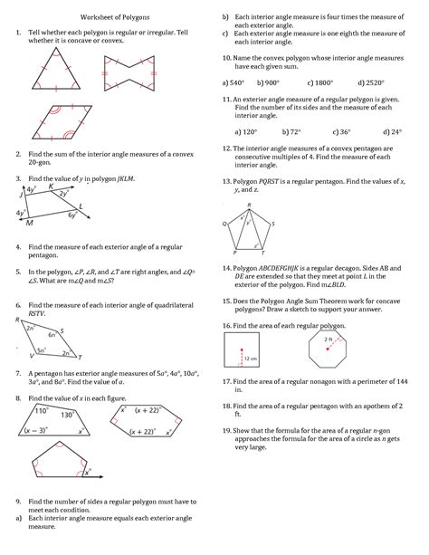 Polygon Interior Angles Worksheet Make Your Own Beautiful  HD Wallpapers, Images Over 1000+ [ralydesign.ml]