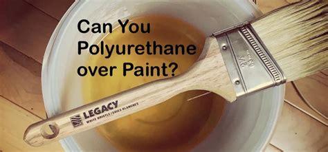 Polyurethane over paint Image