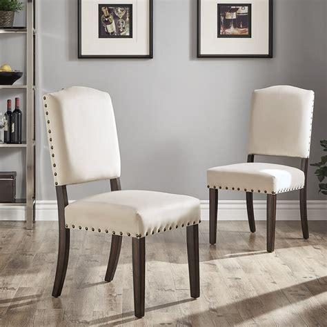 Pompon Velvet Nailhead Upholstered Dining Chair (Set of 2)