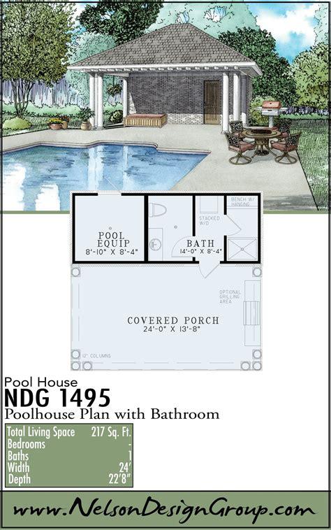 Pool house garage plans Image