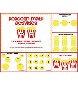 Popcorn Math Game