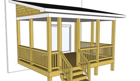Porch blueprints Image