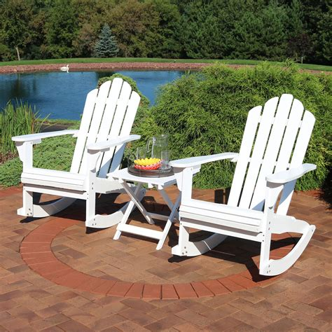 Porch glider chair and bench set Image
