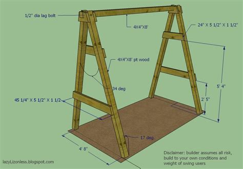 Porch swing frame dimensions Image