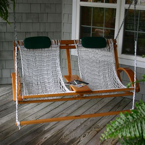 Porch swing with footrest Image